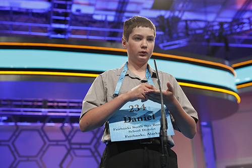 "<div class=""meta image-caption""><div class=""origin-logo origin-image ap""><span>AP</span></div><span class=""caption-text"">Daniel Doudna, 13, from Fairbanks, Alaska, spells his word during the second round 90th Scripps National Spelling Bee, Wednesday, May 31, 2017, in Oxon Hill, Md. (AP Photo/Alex Brandon)</span></div>"