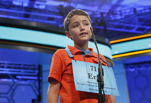 "<div class=""meta image-caption""><div class=""origin-logo origin-image ap""><span>AP</span></div><span class=""caption-text"">Eric Gitson, 11, from Delaware, Ohio, spells his word correctly in the third round of the 90th Scripps National Spelling Bee, Wednesday, May 31, 2017, in Oxon Hill, Md. (AP Photo/Alex Brandon)</span></div>"