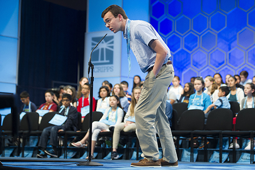"<div class=""meta image-caption""><div class=""origin-logo origin-image ap""><span>AP</span></div><span class=""caption-text"">Lucas Mooney, 13, from Charles Town, W. Va., correctly spells his word during the 90th Scripps National Spelling Bee in Oxon Hill, Md., Wednesday, May 31, 2017. (AP Photo/Cliff Owen)</span></div>"