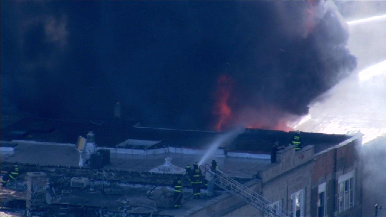 Extra-alarm fire destroys Northwest Side furniture store