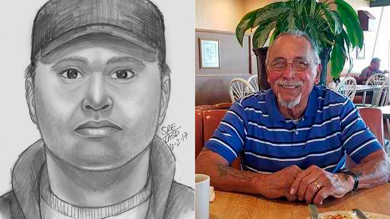 Authorities released a composite sketch of the suspect in the beating of a Korean War veteran that occurred Wednesday, May 31, 2017, in Carson.