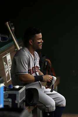 "<div class=""meta image-caption""><div class=""origin-logo origin-image ap""><span>AP</span></div><span class=""caption-text"">Houston Astros' Jose Altuve sits in the dugout in the first inning of a baseball game against the Texas Rangers on Saturday, June 3, 2017(AP Photo/Tony Gutierrez) (AP)</span></div>"