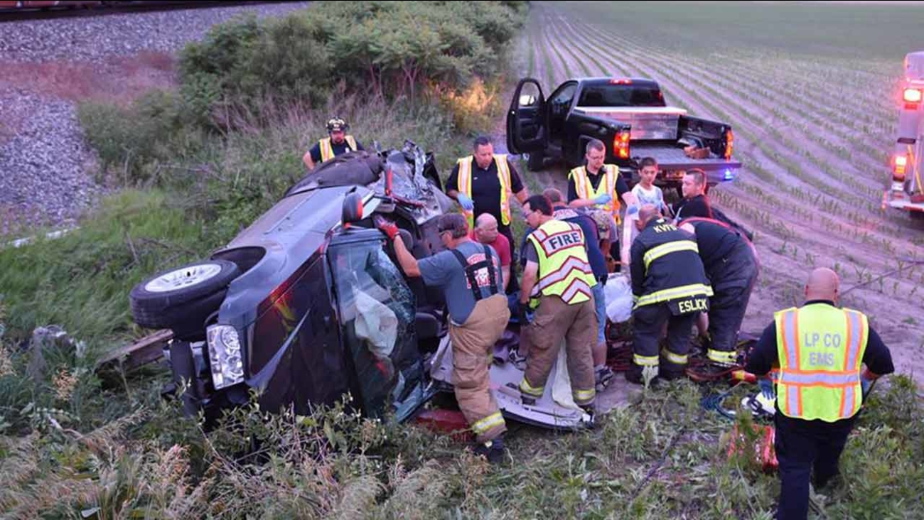 6-year-old boy, mother injured after train hits car in