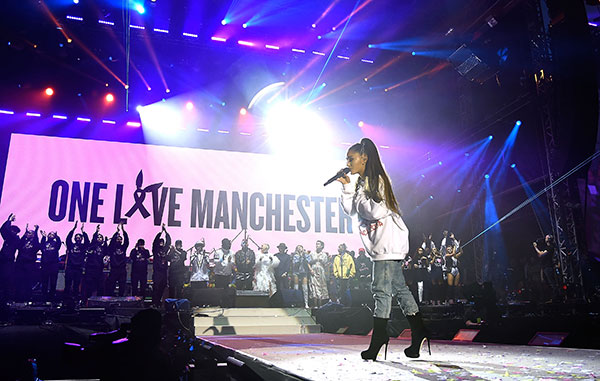 "<div class=""meta image-caption""><div class=""origin-logo origin-image none""><span>none</span></div><span class=""caption-text"">Ariana Grande performs on stage during the One Love Manchester Benefit Concert at Old Trafford on June 4, 2017 in Manchester, England. (Kevin Mazur/One Love Manchester/Getty Images for One Love Manchester)</span></div>"