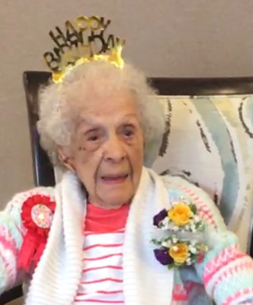 <div class='meta'><div class='origin-logo' data-origin='none'></div><span class='caption-text' data-credit=''>Rose Marie Gilio celebrated her 106th birthday Monday at Autumn Leaves in Orland Park.</span></div>