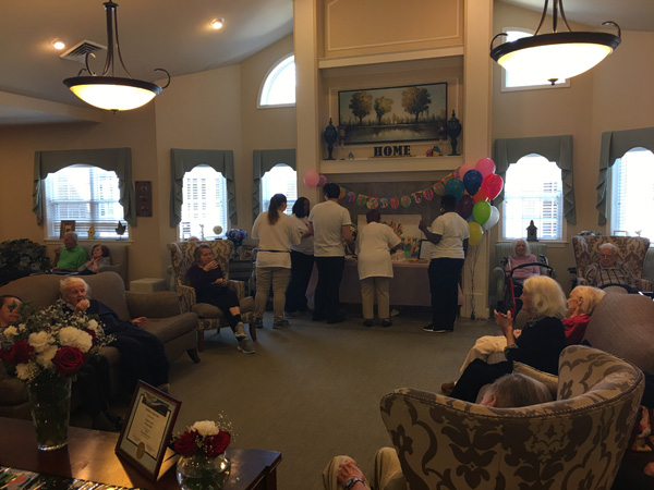 <div class='meta'><div class='origin-logo' data-origin='none'></div><span class='caption-text' data-credit=''>Rose Marie Gilio was born on June 5, 1911. They held a party for her Monday at Autumn Leaves in Orland Park.</span></div>