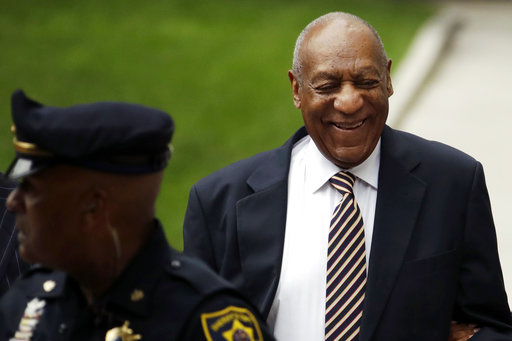 <div class='meta'><div class='origin-logo' data-origin='none'></div><span class='caption-text' data-credit='AP'>Bill Cosby arrives for his sexual assault trial at the Montgomery County Courthouse, Monday, June 5, 2017 in Norristown, Pa. (AP Photo/Matt Slocum)</span></div>