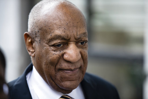 <div class='meta'><div class='origin-logo' data-origin='none'></div><span class='caption-text' data-credit='AP'>Bill Cosby arrives for his sexual assault trial at the Montgomery County Courthouse in Norristown, Pa., Monday, June 5, 2017. (AP Photo/Matt Rourke)</span></div>