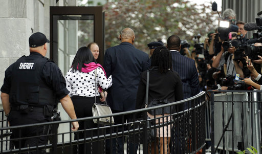 <div class='meta'><div class='origin-logo' data-origin='none'></div><span class='caption-text' data-credit='AP'>Bill Cosby arrives for his sexual assault trial at the Montgomery County Courthouse, Monday, June 5, 2017, in Norristown, Pa. (AP Photo/Matt Slocum)</span></div>