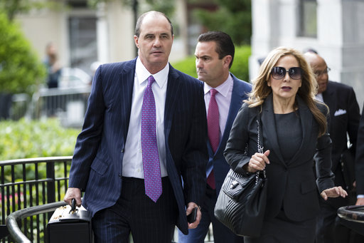 <div class='meta'><div class='origin-logo' data-origin='none'></div><span class='caption-text' data-credit='AP'>Defense lawyers Brian McMonagle, left, and Angela Agrusa arrive for Bill Cosby's sexual assault trial at the Montgomery County Courthouse in Norristown, Pa.,</span></div>