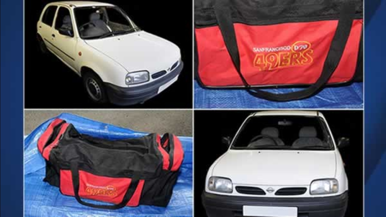 Greater Manchester police tweeted these images of the gym bag found during the Manchester bombing investigation on Tuesday, June 6, 2017.