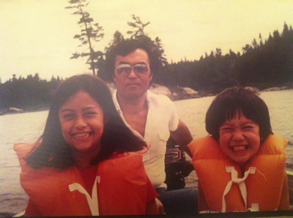 <div class='meta'><div class='origin-logo' data-origin='none'></div><span class='caption-text' data-credit=''>Liz Cho and her father (middle) and brother (right).</span></div>