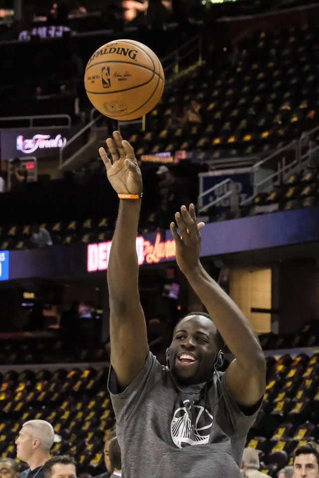 "<div class=""meta image-caption""><div class=""origin-logo origin-image none""><span>none</span></div><span class=""caption-text"">Draymond Green warms up before game 3 of the NBA Finals in Cleveland, Ohio on June 8, 2017. (Wayne Freedman)</span></div>"