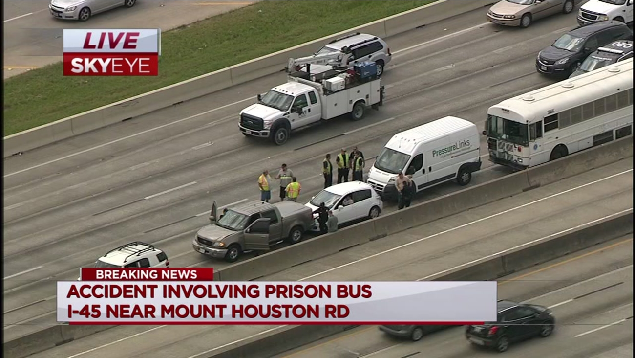 Accident Involving Prison Bus On North Freeway