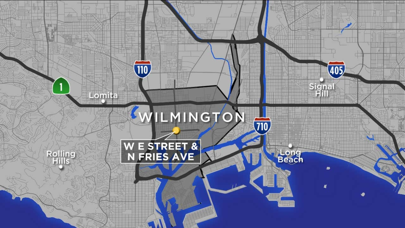A map shows the location of a fatal crash that left a 64-year-old pedestrian dead in Wilmington on Thursday, June 8, 2017.