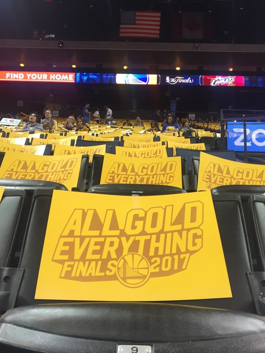 "<div class=""meta image-caption""><div class=""origin-logo origin-image none""><span>none</span></div><span class=""caption-text"">Signs appear at  Oracle Arena at the watch party for Game 4 of the NBA Finals in Oakland, Calif. on June 9, 2017. (KGO-TV)</span></div>"