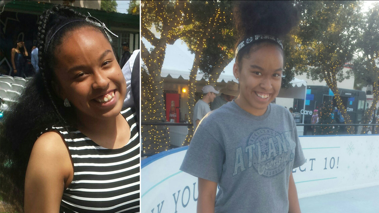 Kailah Higuera, 14, is shown in two undated photos.