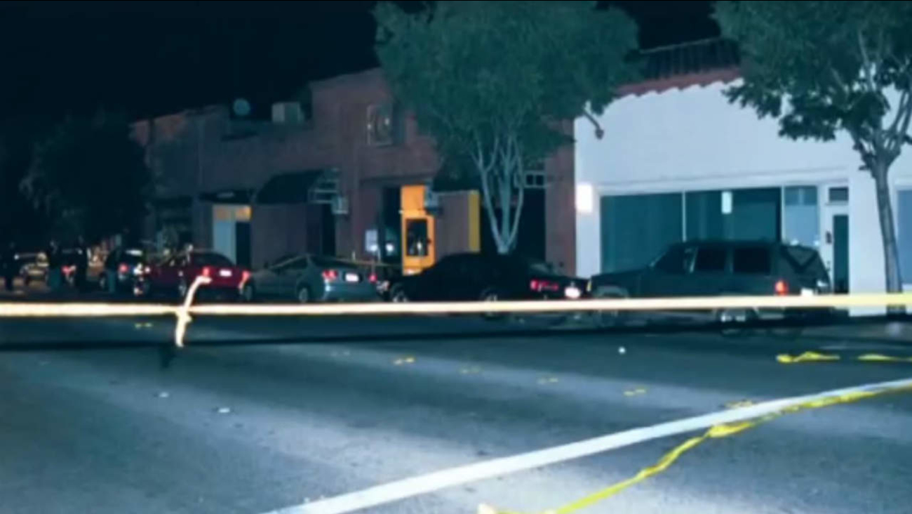 Crime scene tape is seen at the scene of a homicide in Palo Alto, Calif. on June 10, 2001.