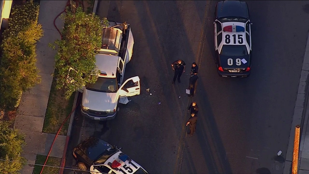 Police investigate a shooting at a Target parking lot in Van Nuys on Tuesday, July 22, 2014.