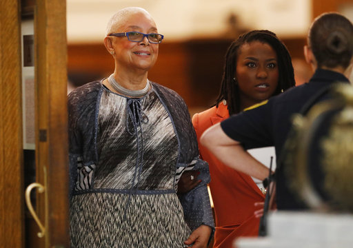 <div class='meta'><div class='origin-logo' data-origin='none'></div><span class='caption-text' data-credit='AP'>Camille Cosby leaves the courtroom during a lunch break in Cosby's sexual assault trial, June 12, 2017. (David Maialetti/The Philadelphia Inquirer via AP, Pool)</span></div>