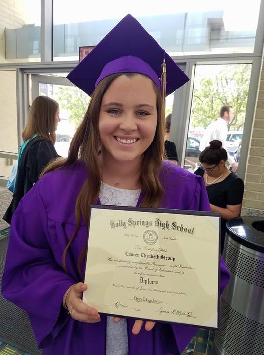 "<div class=""meta image-caption""><div class=""origin-logo origin-image none""><span>none</span></div><span class=""caption-text"">My daughter Lauren, Holly Springs High class of 2017! (Cathy Brougham Stroup)</span></div>"