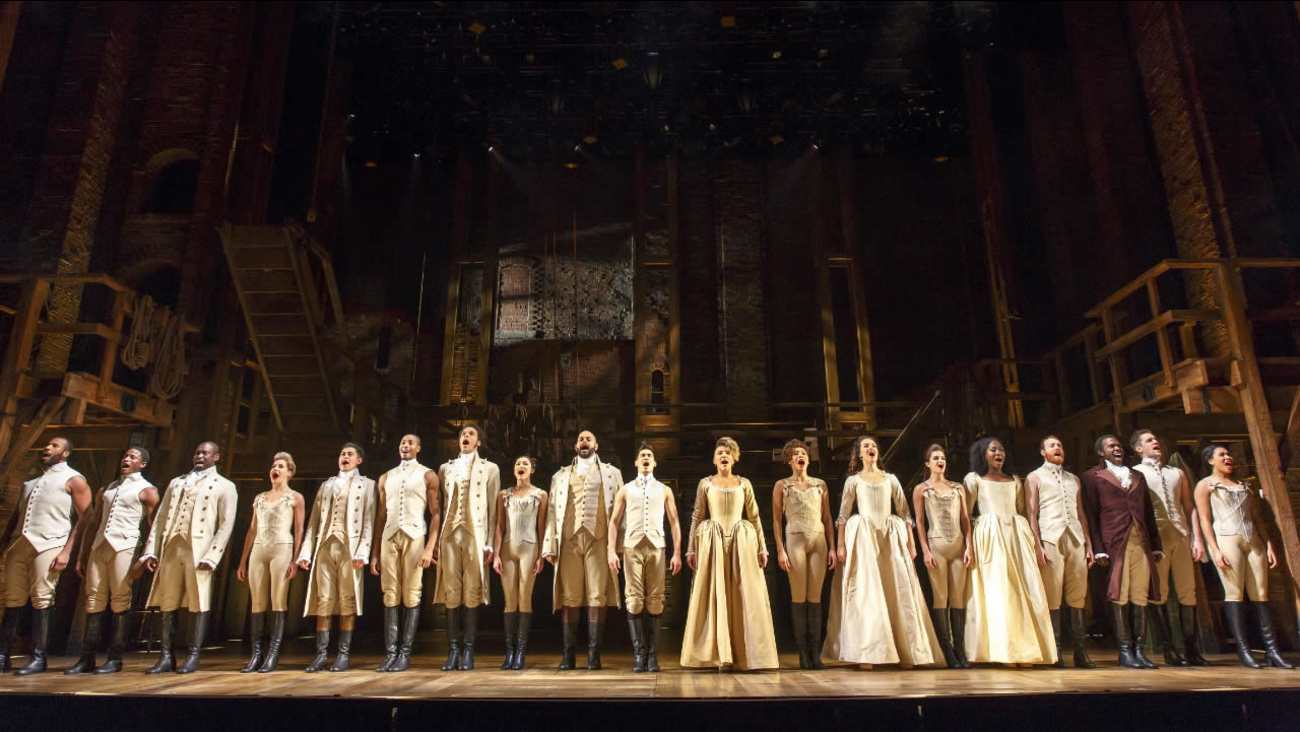 """Hamilton"" cast members will perform the national anthem at Game 5 of the NBA Finals between the Golden State Warriors and the Cleveland Cavaliers."