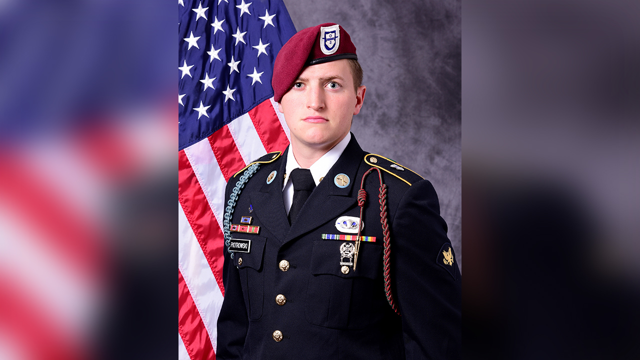 An 82nd Airborne Division Paratrooper Joshua S. Piotrowski