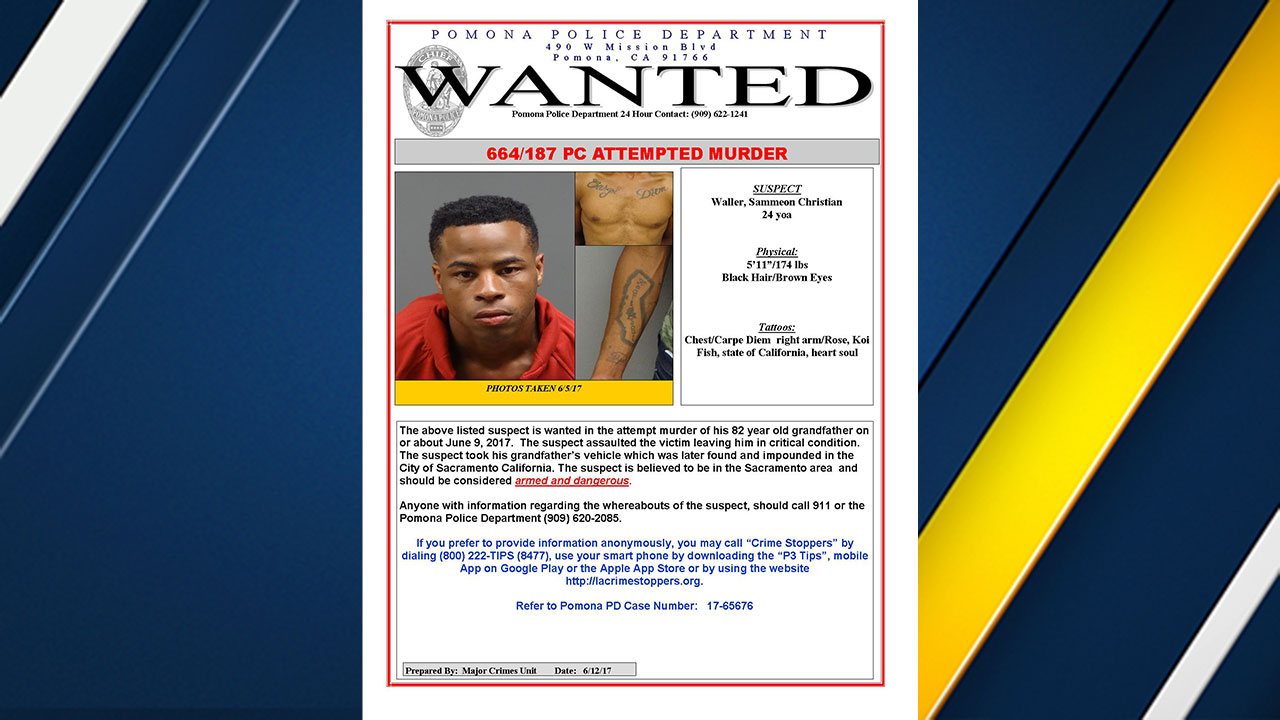 Pomona man wanted in attack on own grandfather, 82 | abc7 com