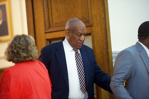 <div class='meta'><div class='origin-logo' data-origin='AP'></div><span class='caption-text' data-credit='(Mark Makela/Pool Photo via AP)'>Bill Cosby departs the courtroom at the Montgomery County Courthouse in his sexual assault trial in Norristown, Pa., Wednesday, June 14, 2017.</span></div>