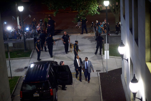 <div class='meta'><div class='origin-logo' data-origin='AP'></div><span class='caption-text' data-credit='(Mark Makela/Pool Photo via AP)'>Bill Cosby leaves the Montgomery County Courthouse during his sexual assault trial Wednesday, June 14, 2017, in Norristown, Pa.</span></div>