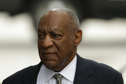 <div class='meta'><div class='origin-logo' data-origin='AP'></div><span class='caption-text' data-credit='(AP Photo/Matt Slocum)'>Bill Cosby arrives at the Montgomery County Courthouse during his sexual assault trial, Thursday, June 15, 2017, in Norristown, Pa.</span></div>