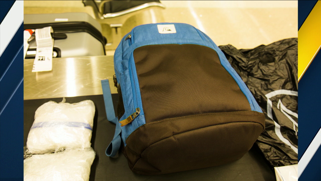 Federal agents arrested a man at Los Angeles International Airport for allegedly trying to smuggle nearly four pounds of crystal methamphetamine in his underwear.