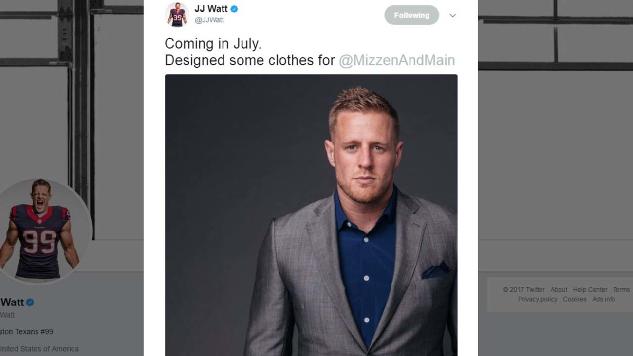 Jj Watt The Designer Texans Star Reveals New Clothing Line To