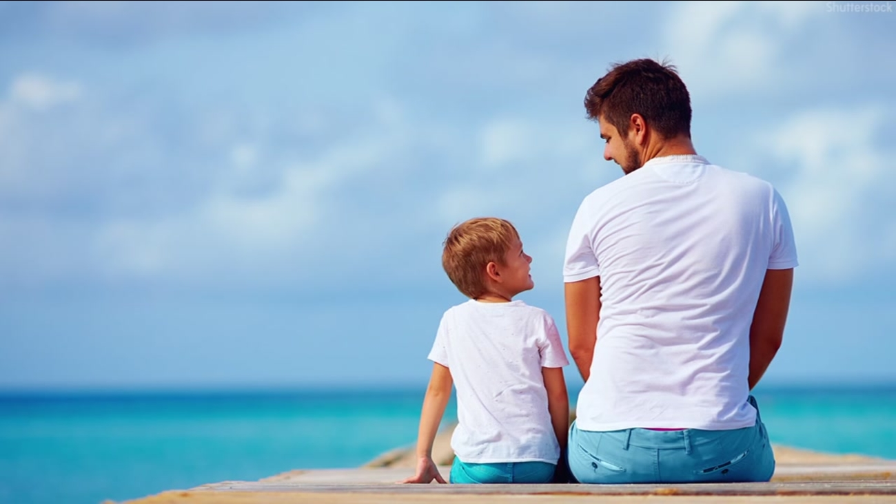 Image of a dad and son