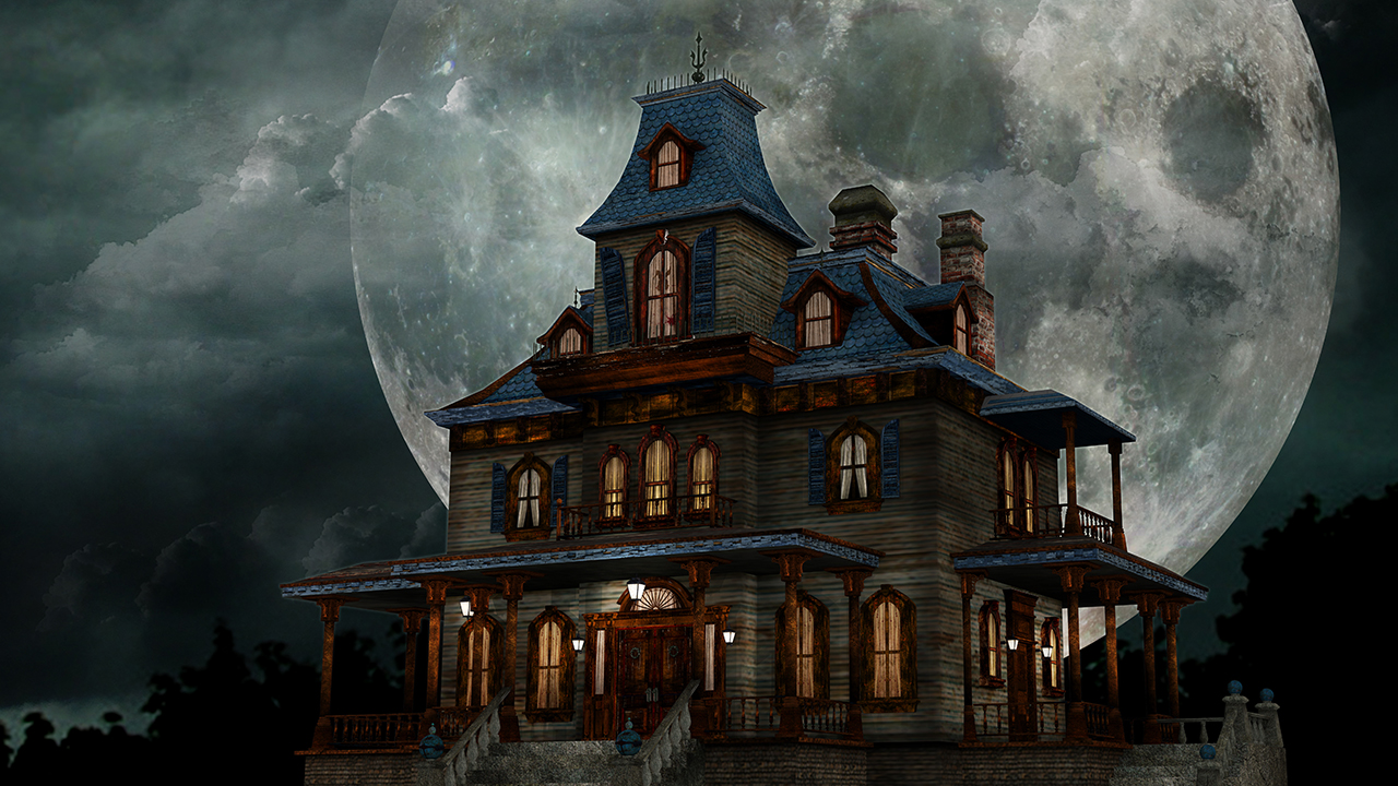 Image of haunted house
