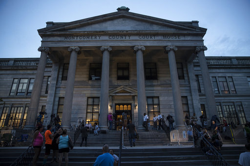 <div class='meta'><div class='origin-logo' data-origin='AP'></div><span class='caption-text' data-credit='(AP Photo/Matt Rourke)'>Shown is the Montgomery County Courthouse during Bill Cosby's sexual assault trial at the in Norristown, Pa., Thursday, June 15, 2017.</span></div>
