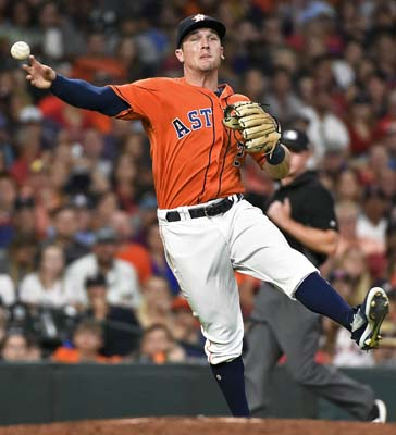 "<div class=""meta image-caption""><div class=""origin-logo origin-image ap""><span>AP</span></div><span class=""caption-text"">Houston Astros third baseman Alex Bregman throws out Boston Red Sox' Christian Vazquez to end the top of the seventh inning  (AP Photo/Eric Christian Smith) (AP)</span></div>"
