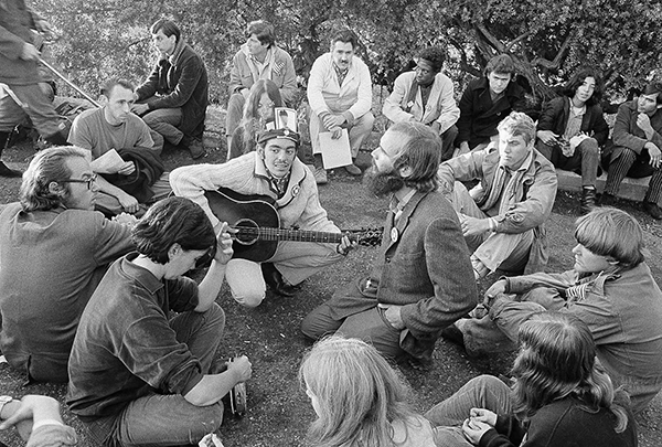 <div class='meta'><div class='origin-logo' data-origin='AP'></div><span class='caption-text' data-credit='AP Photo'>A large group of long-haired hippies greeted the sunrise, from the Haight-Ashbury district hilltop, beginning a three-day wake for the death of the hippie movement, October 6, 1967</span></div>