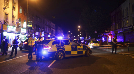 "<div class=""meta image-caption""><div class=""origin-logo origin-image ap""><span>AP</span></div><span class=""caption-text"">Police man a cordon at Finsbury Park where a vehicle struck pedestrians in London. ((Yui Mok/PA via AP))</span></div>"