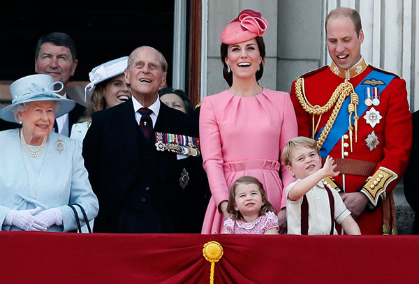<div class='meta'><div class='origin-logo' data-origin='none'></div><span class='caption-text' data-credit='Kirsty Wigglesworth/AP Photo'>The royal family appears on the balcony of Buckingham Palace, after attending the annual Trooping the Colour Ceremony in London, Saturday, June 17, 2017.</span></div>