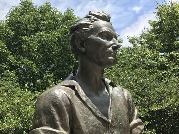 "<div class='meta'><div class='origin-logo' data-origin='WLS'></div><span class='caption-text' data-credit=''>The statue's flowing hair, unbuttoned collar and muscular arms have some on the internet calling him ""Baberham Lincoln.""</span></div>"