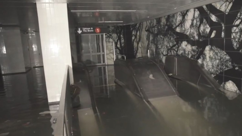 South Ferry Subway Station Flooded
