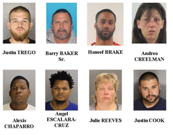 46 charged, including dad of punching suspect, in undercover