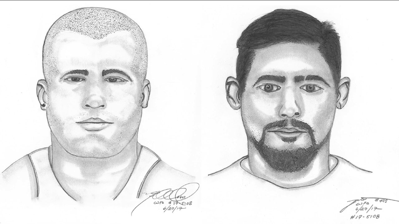 Whittier police released these sketches of two suspects in the kidnapping of a 12-year-old girl from the front yard of her home on Monday, June 26, 2017.