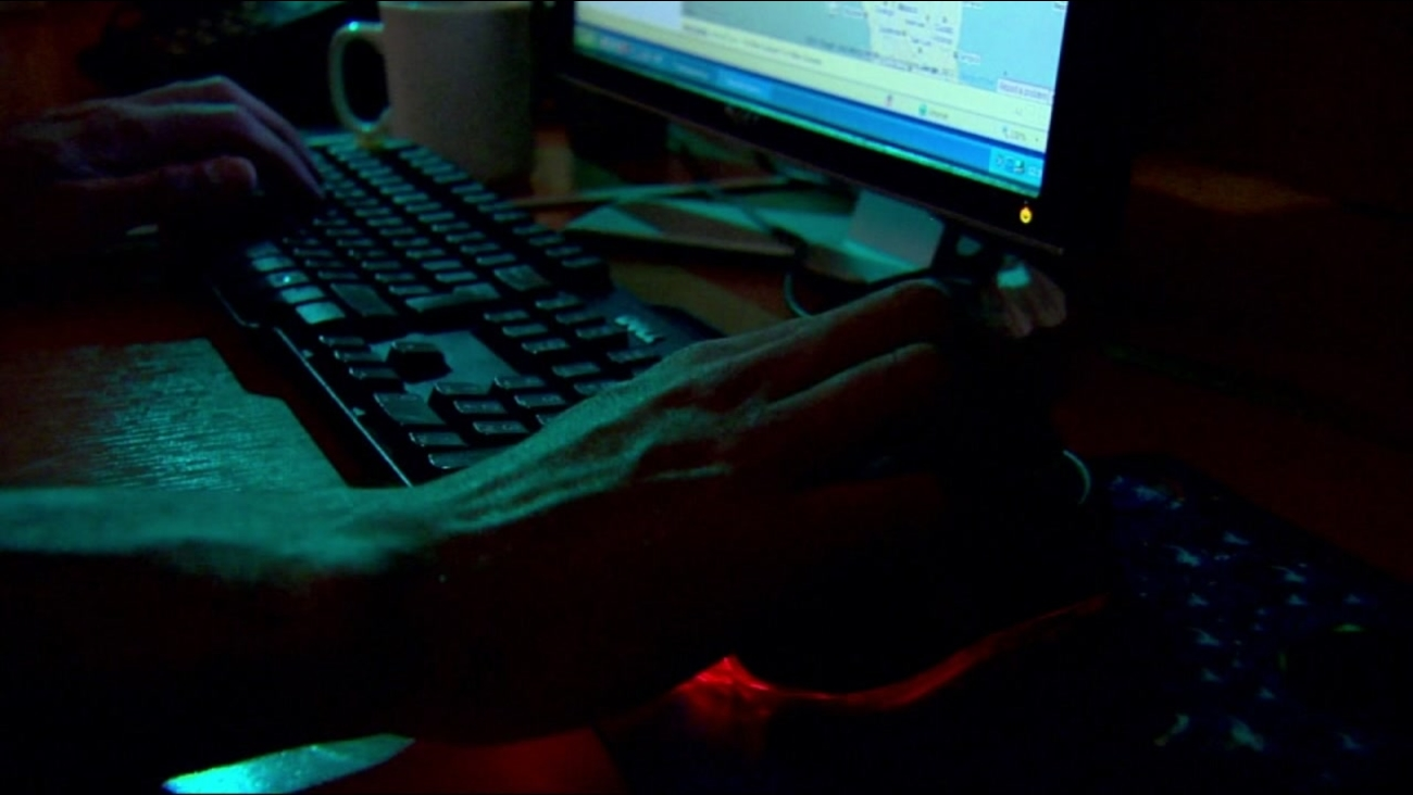 This is an undated image of person using a computer.