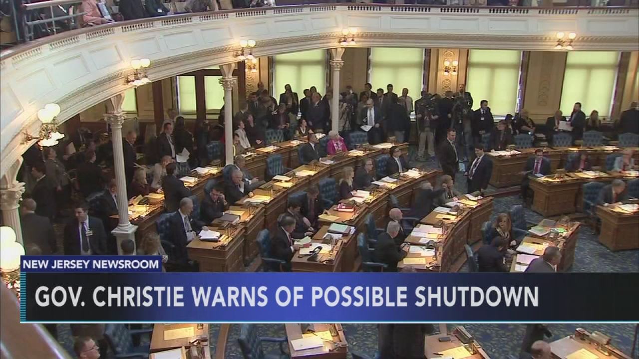 Gov't shutdown looms in NJ