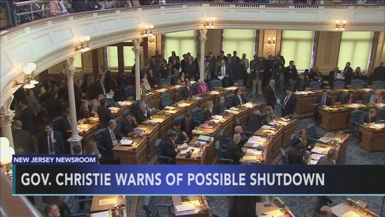 Gov't shutdown looms in NJ