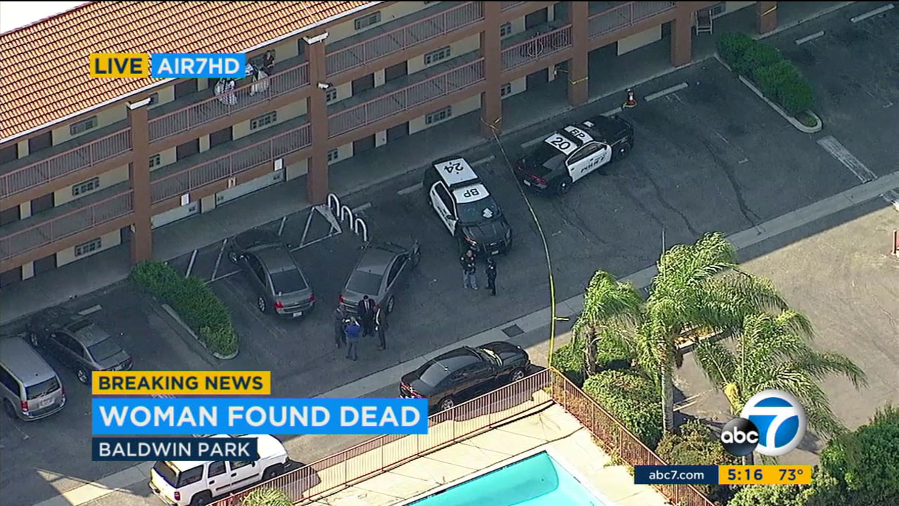 Sheriff's deputies are investigating the death of a woman found at a Baldwin Park motel as a possible homicide, officials said.