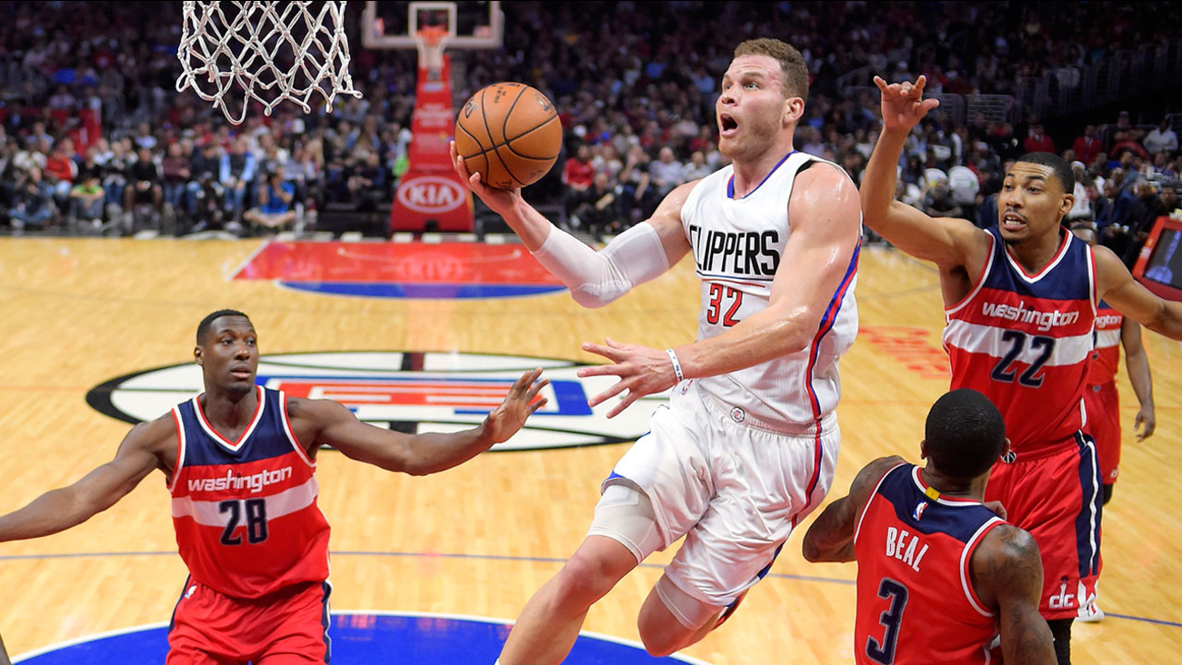 Los Angeles Clippers forward Blake Griffin, pictured during a March 29, 2017 game against the Washington Wizards at Staples Center.