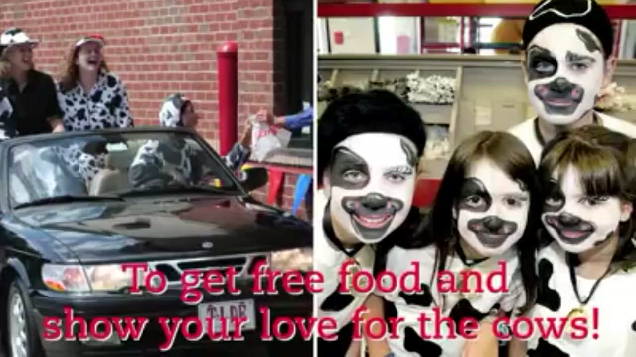 Chick-fil-A offers FREE food to celebrate Cow Appreciation Day | abc13.com  sc 1 st  ABC13 Houston & Chick-fil-A offers FREE food to celebrate Cow Appreciation Day ...